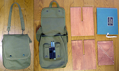 Canvas Map Case Shoulder Bag 15