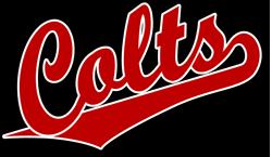 team pride colts team script logo