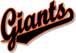 team pride giants team script logo